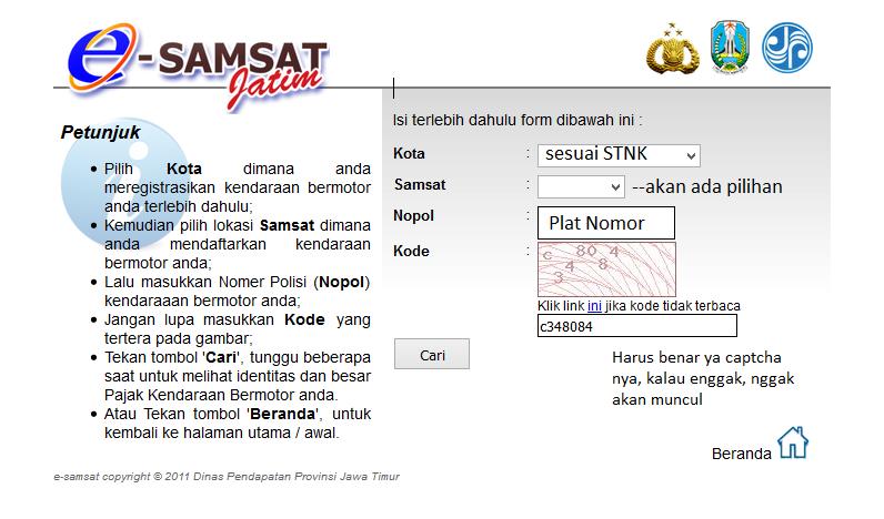 bayar pajak motor lewat ATM