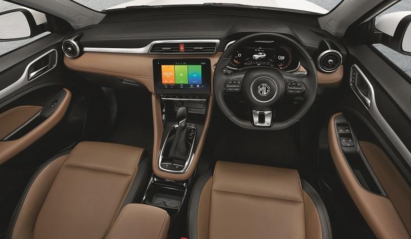 spesifikasi mg zs facelift - interior