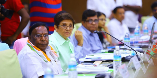 Puducherry Chief Minister, Kiran Bedi Meet To Discuss Budget