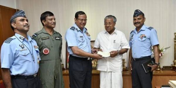Kerala floods: Indian Air Force donates ₹ 20 crore