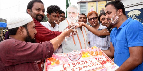 BJP Celebrates PM Modi's Birthday as 'Modi Day'