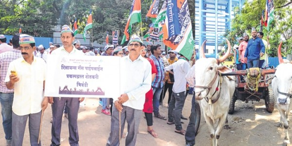 MNS workers, farmers stage protest rally in Thane, elicits 'cold' response
