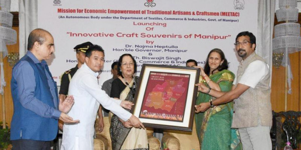 Governor launches 150 new craft souvenirs of Manipur