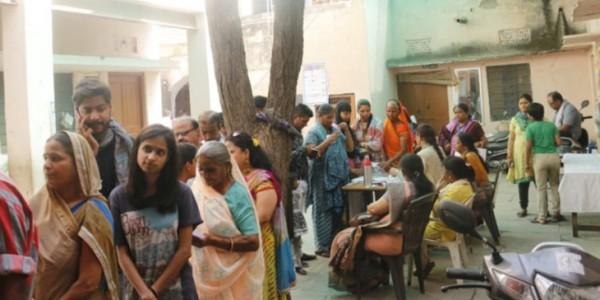 राजस्थान में 13 सीटों पर वोटिंग जारी, 1 बजे तक हुआ 45.19 प्रतिशत मतदान