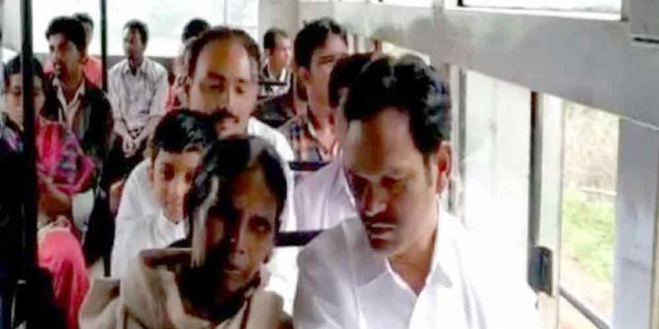 MLA Chetti Phalguna travels by bus to connect with commuters