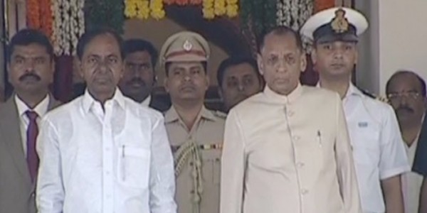KCR & Telangana Minister's takes part in swearing in ceremony