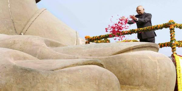 ram-nath-kovind-visits-statue-of-unity-lays-foundation-for-railway-station