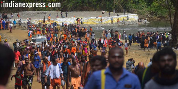 Sabarimala row: 38-year-old woman at base camp won't be taken to hilltop, say police