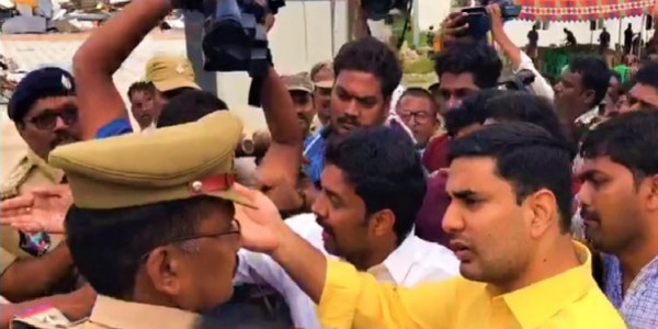 Faceoff at Chandrababu Naidu's Residence as TDP Chief Tries to Defy House Arrest