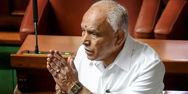 After denial, B S Yeddyurappa admits he met JD(S) MLA's son