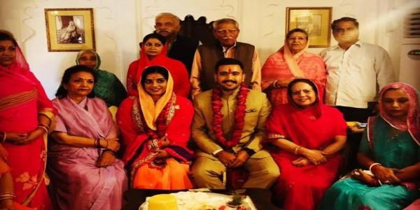 हिमाचल के पूर्व सीएम वीरभद्र के बेटे विक्रमादित्य की सुदर्शना से होगी शादी