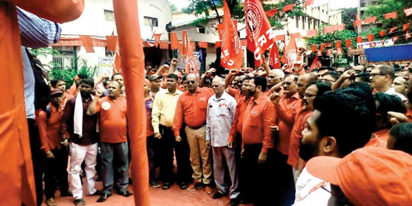 Unions protest over shutdown of printing presses, allege Railways of promoting privatisation