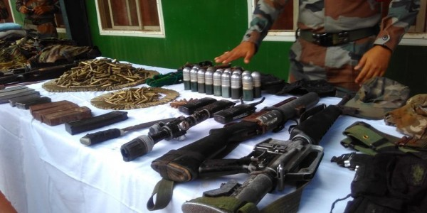 Army recover huge cache of arms,ammunition of NSCN(IM) in Manipur