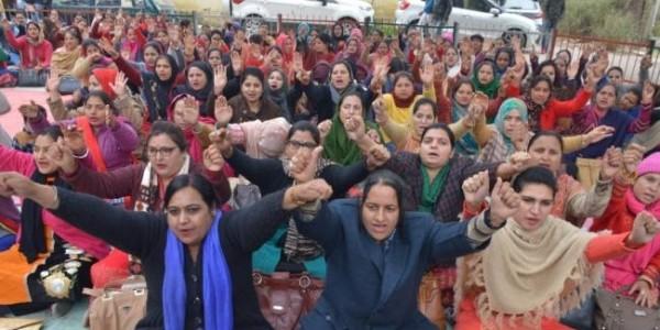 NHM Employees Strike In Haryana