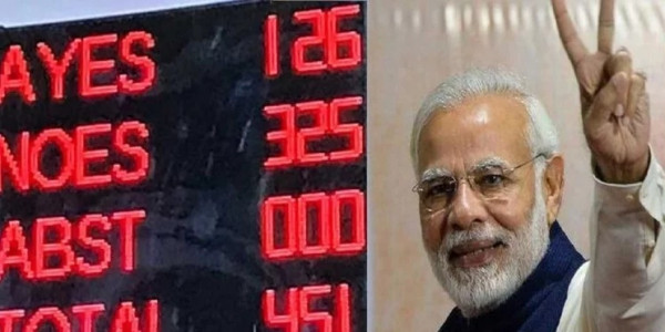 No Confidence Motion voting in favour of pm modi
