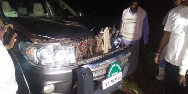 Man dies after being hit by SUV in which BS Yeddyurappa's son was travelling, driver arrested
