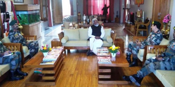 lt-gen-rajeev-sirohi-meets-mizoram-governor-kummanam-rajasekharan-at-raj-bhawan