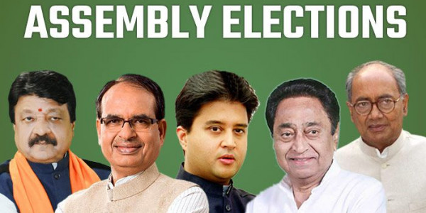 BJP, Cong Neck And Neck in mp