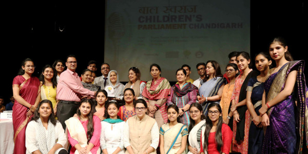 Chandigarh Commission for Protection of Child Rights (CCPCR) organized Children's Parliament Chandigarh