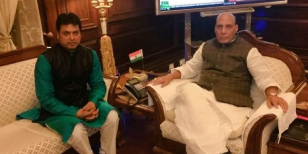 Tripura Chief Minister meets six Union Ministers takes up state issues