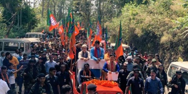 BJP's Rebati Mohan files nomination for Tripura East LS seat