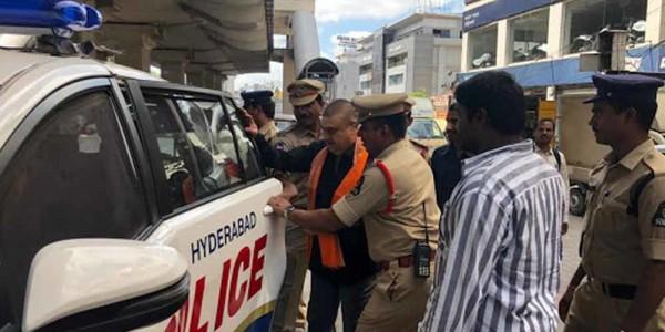 BJP MLC N Ramchander Rao arrested for protesting against new secretariat construction