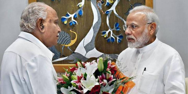 Relief to Karnataka after Central team survey, Modi tells Yediyurappa