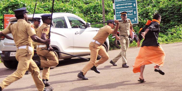 Sabarimala row: Kerala Police release photos of 210 suspects for violence during protest