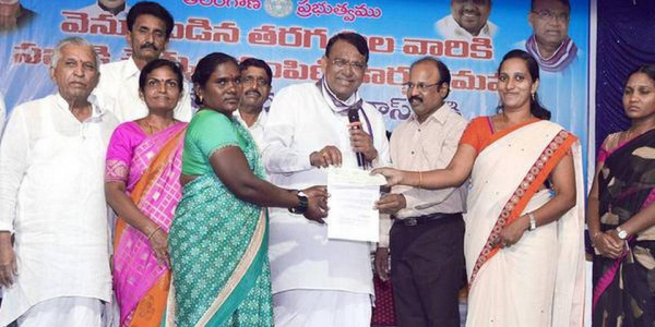 Minister disburses cheques to BCs