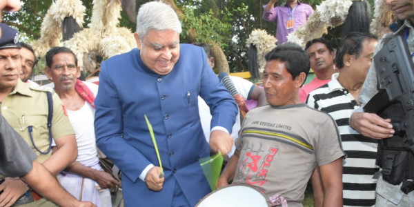 WB Governor Jagdeep Dhankhar Attends Program With His New Security Cover
