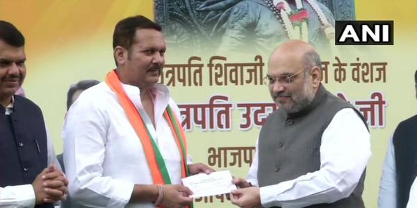 विधानसभा चुनाव से पहले NCP को झटका, दिग्गज नेता उदयनराजे भोसले BJP में हुए शामिल