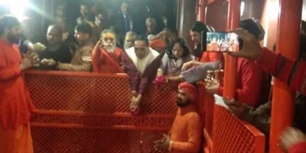 Vijay Rupani With Wife Anjali Rupani Get Holy Dip In Sangam