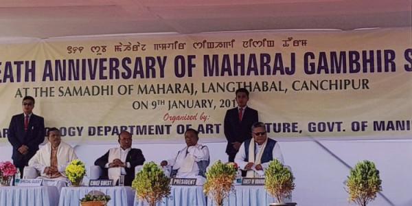 Manipur pays glowing tributes to Maharaj Gambhir Singh on an anniversary