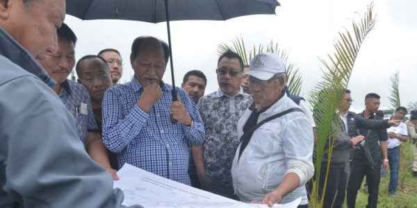 Nagaland CM inspects devp works at medical college site in Kohima