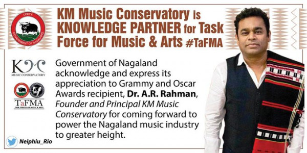 A R Rahman's institute partners with Nagaland government