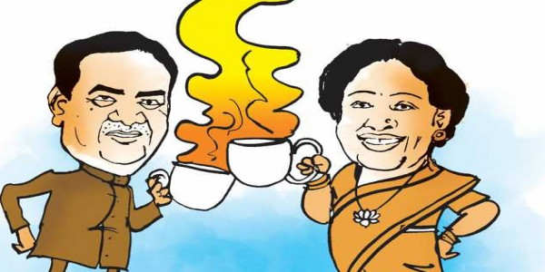 It's Kirron's coffee vs Tandon's chai