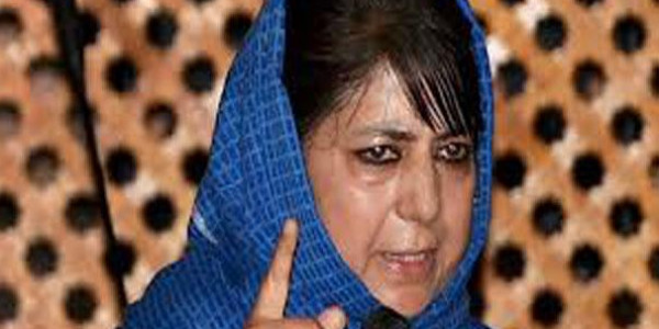 mehbooba said that her mlas are faered of nia-