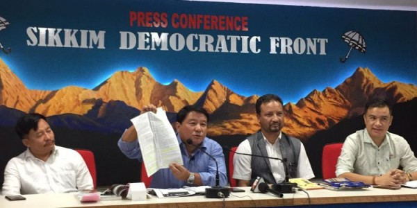 SDF comes down heavily on SKM minister's criticism of Chamling