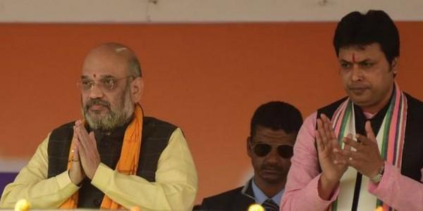 Tripura CM Biplab Kumar Deb meets Amit Shah