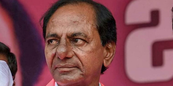 opposition blames KCR for carving himself as a god over the pillars of Yadadri Temple