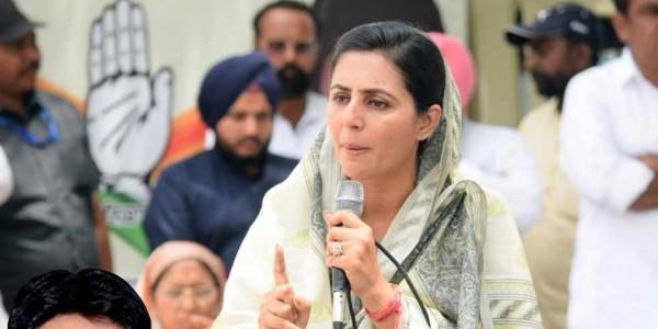 बठिंडा से कांग्रेस प्रत्याशी की पत्नी ने साधा हरसिमरत कौर पर निशाना