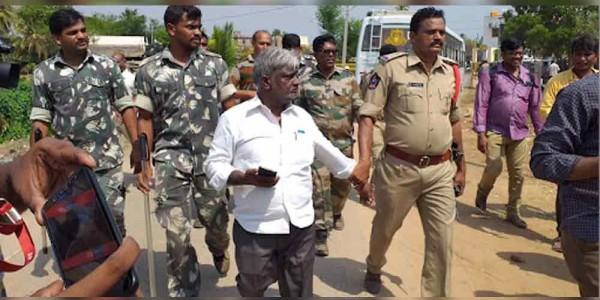 TDP leader muni chandra naidu arrest in kamma palli polling booth
