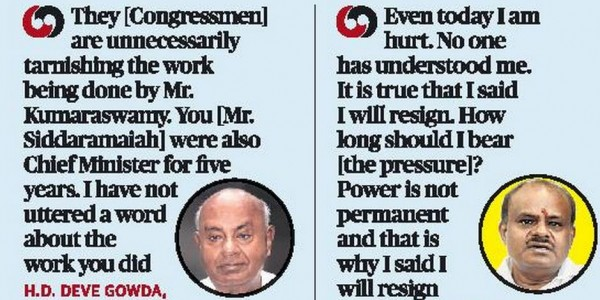 Don't let things get out of hand, Deve Gowda warns Congress