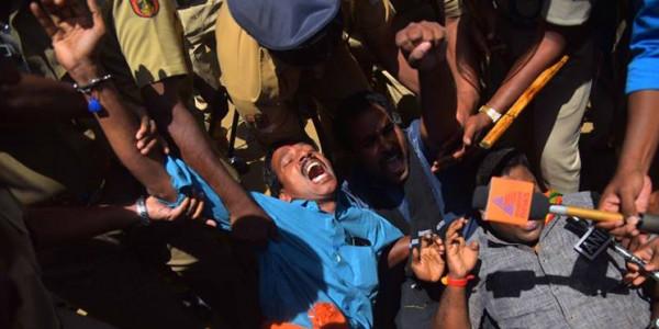 Sabarimala row: Kerala Police arrests protesting BJP workers in Nilakkal