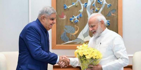 West Bengal Guv Jagdeep Dhankhar meets Narendra Modi