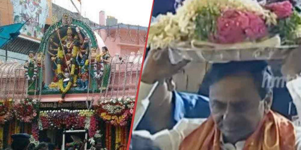 KCR offers prayers at Ujjaini Mahankali temple