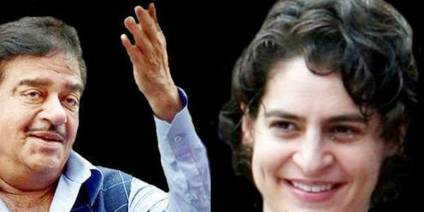शत्रु ने इंदिरा गांधी से की प्रियंका गांधी वाड्रा की तुलना, कहा- कांग्रेस पार्टी की जिम्मेदारी संभालें