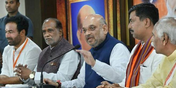 Amit Shah takes the fight straight into TRS camp