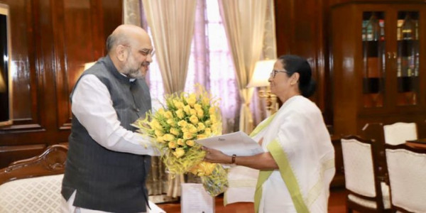 Mamata Banerjee discusses NRC issue with Amit Shah