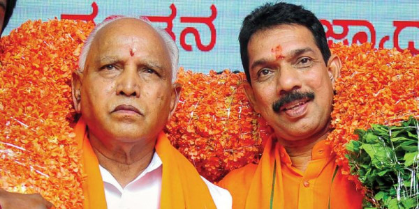 Nalin Kumar Kateel Threw 6 Supporters of CM Yediyurappa Out From Party Office